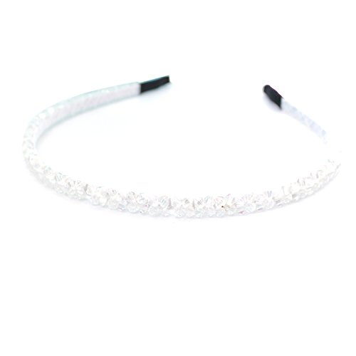Headbands Hairbands for Women Baby Girls Tiara Alice White Rhinestones Crystal by Trimming Shop®