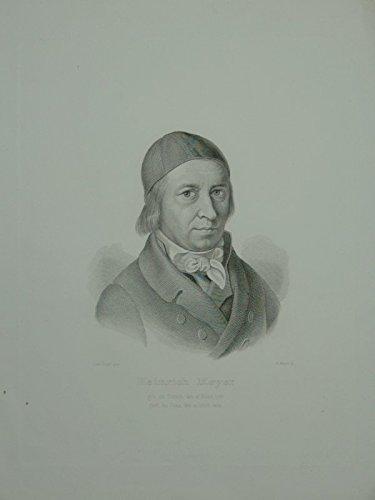 Portrait. Brustfigur nach viertelrechts mit Kappe auf dem Haupthaar. Stahlstich von H. Meyer nach einer Zeichnung von Ludwig Vogel. (Vögel Zeichnung)