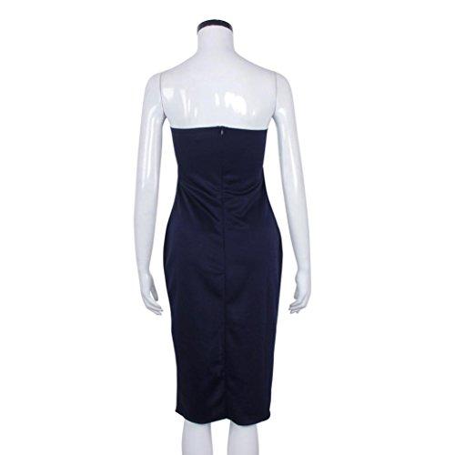 Bluestercool Robe de soirée pour dames Marine