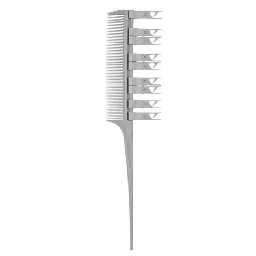 Frcolor highlighting Comb tintura di capelli pettine per capelli Salon (grigio)