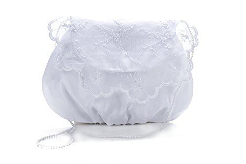 Frühlings-SALE! Brauttasche Abendtasche festliche Tasche Weiß/große weisse Schleife