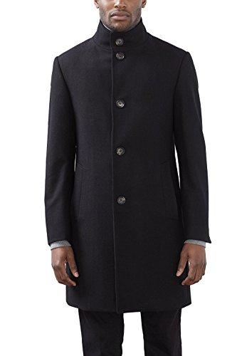 ESPRIT Collection Herren Mantel 116EO2G020, Schwarz (Black 001), Small (Herstellergröße: 46)
