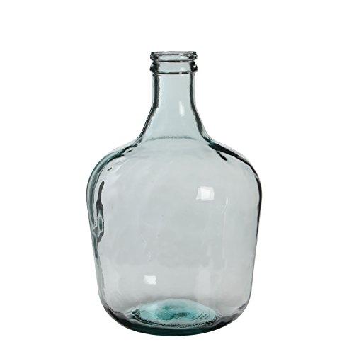 MICA Decorations Diego Glasflasche/Vase, Glas, transparent, H. 42 cm D. 27 cm