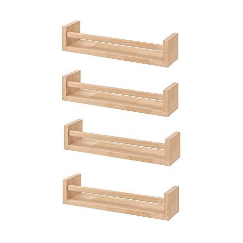 Ikea Bekvam Lot de 4 étagères en bois de bouleau naturel