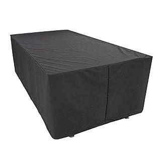 Wen Barbecue en Plein air Couverture Anti-poussière Housse de Protection Jardin Extérieur Maison Oxford Matériau en Tissu Noir (Size : 270 x 180 x 89 CM)