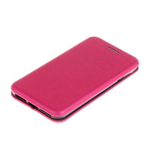 YHUISEN Solid Color Premium-PU-Leder und weicher TPU Gummischutz Mappen-Entwurfs-Flip Folio Case Schutzhülle mit Karten-Slot / Ständer für iPhone 7 ( Color : Rose Gold ) Rose