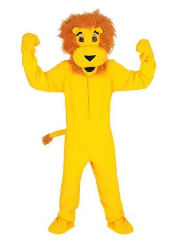 Maskottchen Löwe Kostüm Overall - Löwe gelb Einheitsgrösse L - XL Kostüm Fasching Karneval Maskottchen