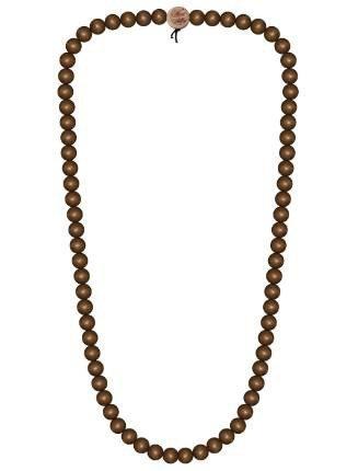 Wood Fellas Unisex Deluxe Holz-Perlenkette Brown 12mm