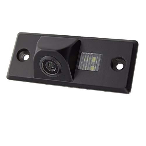 Rückfahrkamera Rückfahrkamera Autospiegel dass umgekehrt Backup-Maschine Fotopapier High Definition CCD Wasserdicht Schwarz Rückfahrkamera für B5Golf 4/5/6 (Porsche-backup-kamera)