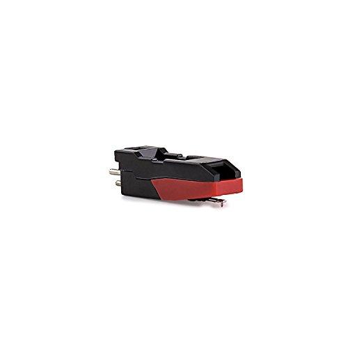 auna MG-Cartridge Ersatzteil Ersatz-Nadel für auna Plattenspieler Nadel für Schallplattenspieler Plattennadel schwarz-rot