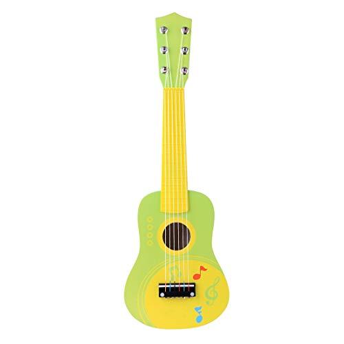 Poxl Guitare Enfant en Bois, 21 inch Guitare Electrique 6 Cordes Musique Guitare pour Fille et Garçon 3+ Ans, Cultiver L'intérêt des Enfants pour la Musique