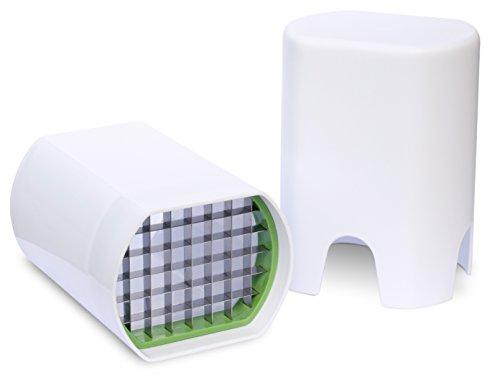Gemüseschneider für Gemüsestücke, Schnittfläche 1 x 1 cm - ideal als Pommesschneider Domo DO154, weiß