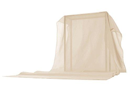 Timormode Schal Chiffon Stola für Kleider Abendkleider Brautkleider Halstuch Strand Einfarbig Damenmode 10200 Champagne 160*50cm (Chiffon-schal Der Frauen)