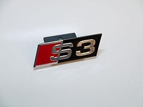 Chrom-schwarz-rot, S3 Front Grill Abzeichen Emblem Kühlergrill für Audi Arten, v. Slated