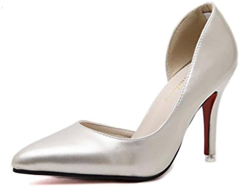 Women's sandals Sandalias de Mujer con talón Alto de Piel de Oveja Diamante Redondo Zapatos de Mujer Talla 10,... -