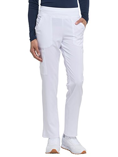 Dickies EDS Essentials by Women's Knit Waistband Scrub Pant XXX-Large Petite White