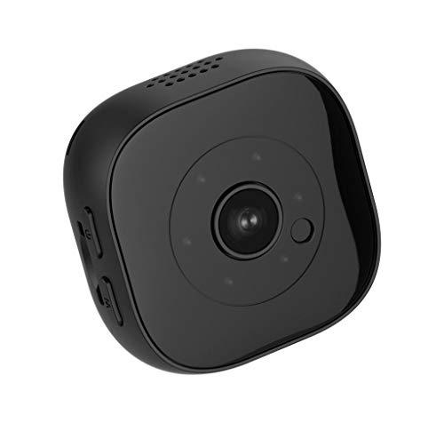 Mini Kamera,HD 1080P Mini Surveillance Kamera mit Bewegungserkennung und Infrarot Nachtsicht für Indoor/Outdoor-Sicherheit Nanny-Kamera - Action-Cam Clip (Schwarz)