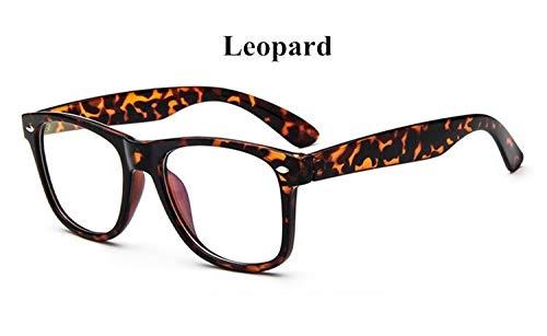 ZRDY Große Gläser Gestalten Dekorative Rahmen Der Retro- Weinlese Der Mannfrauen Mit Rundem Glasrahmen Der Klaren Linsen (Frame Color : Leopard)