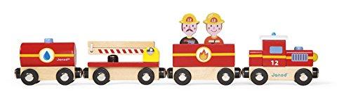 Janod J08540 - Story, Treno Pompieri, Legno