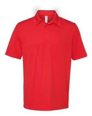 Unisex Performance Three-Button Mesh Polo SPORT RED S (Birdseye-performance-polo Red)