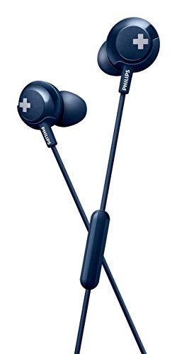 Philips BASS+ Headphones with mic SHE4305BK/00 In-ear Blue