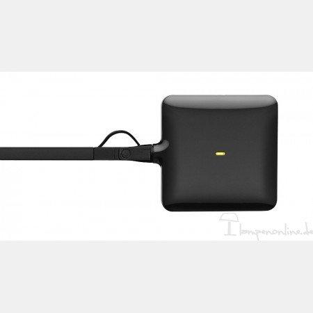 Flo's Kelvin LED Lampe de bureau sur pied avec variateur et ampoule LED Noir brillant
