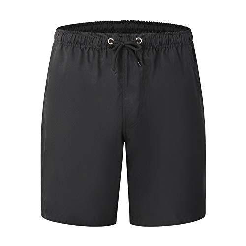 Leichte Slim Fit Baumwoll Leinen Shorts für Herren mit Gürtel Mint Summer,Strandhose Herren schnell trocknende Freizeitshorts 11 4XL