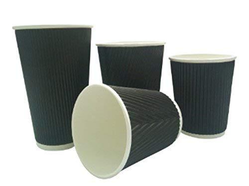 nous Pouvons Source IT – 1000 X 226,8 gram Noir Ripple jetable Hot pour plats Tasses à café