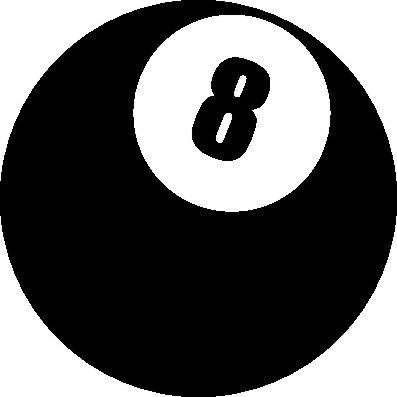1 x 2 Plott Aufkleber Billard Kugel Nummer 8 Queue Snooker Sticker Smiley Fun