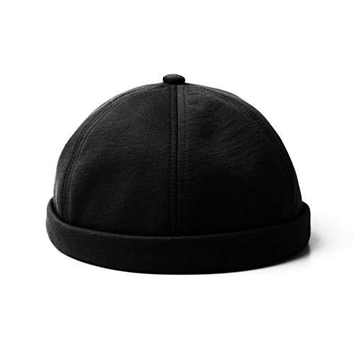 BFQCBFSG Chapeau Noir pour Homme Chapeau De Hip Hop De Rue, Peau De Melon, Chapeau De Maître, Personnalité des Étudiants, Sports Et Loisirs, Casquettes De Printemps Et D'Été