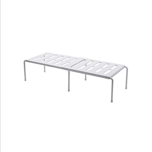 YAHUA LI Multi-Funktion Lagerung Organizer Regal, Küche versenkbare Regal, Kunststoff Desktop Sparen Platz Rack, ideal für Speisekammer, Schrank, in Küche/Badezimmer,White -