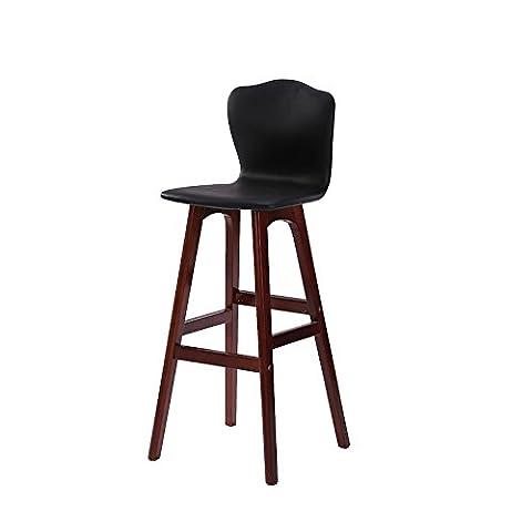 YJH+ Tabouret de bar en bois massif simple, fauteuil de haute hauteur Comptoir de bar Chaise haute Cafétére Tabouret de rangement Chaise de loisirs pour ménage Restaurant Magasin Caisse Chaise haute 65-74cm Belle et généreuse ( Couleur : #3 , taille : 65cm )