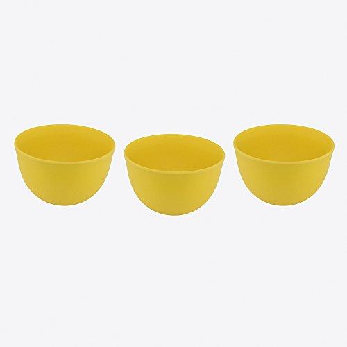 Point-Virgule petits bols en fibre de bambou écologique Passe au lave-vaisselle 10 x 6 cm, Lot de 3 Jaune soleil (1010106145)
