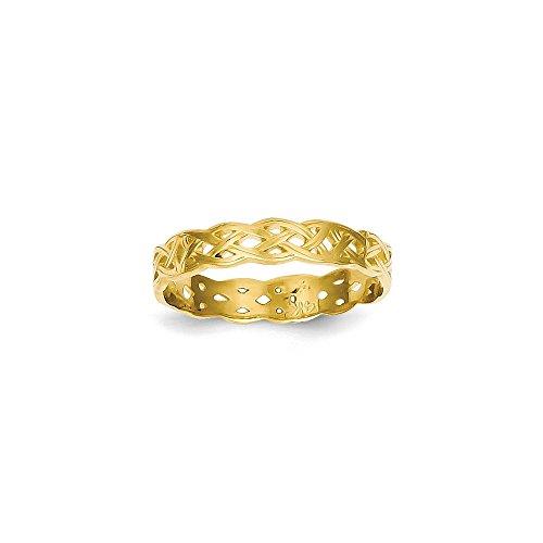 IceCarats Designer Jewellery Size O 1/2 14K Polished Celtic Knot Band