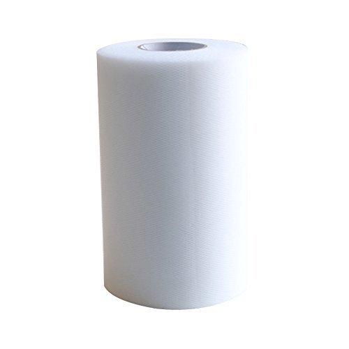 amajoy Tüllstoff-Rolle/Spule, 15 cm x 91m, für Tutu, Hochstuhl-Rock oder Tisch-Rock weiß -