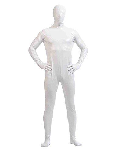 Gladiolus Herren Second Skin Kostüm Ganzkörperanzug Anzug Suit Catsuit Anzug Halloween Weiß XXXL
