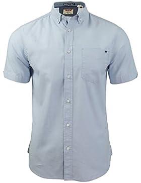 Tokyo Laundry - Camisa casual - Básico - con botones - Manga corta - para hombre