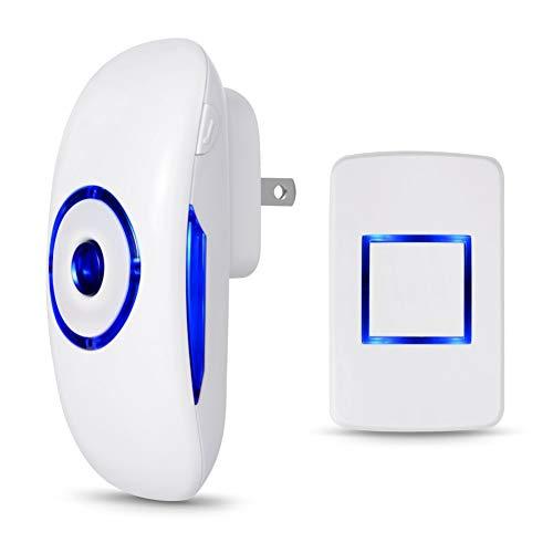 BILLY'S HOME Wasserdichte Wireless Doorbell, 1000 Feet Operating, 36 Chimes Can konvertieren, 4 Level Volume von 20db auf 80db, 1 Plug-In Receiver und 1 Push-Button-Sender - Chime Sender