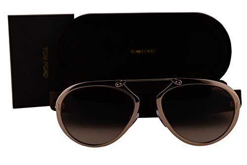 Tom Ford Unisex-Adult FT0508 Dashel Sonnenbrille w/Brown Gradient Lens 28F TF508 Gold groß