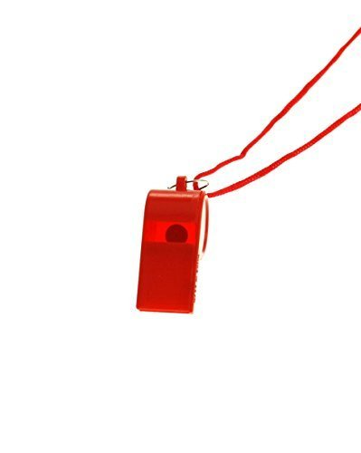 Red Lifeguard Whistle