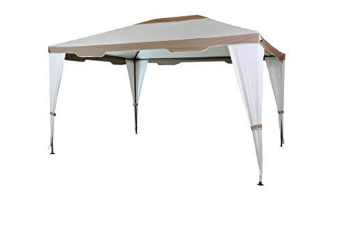 SORARA Stählern Pavillon Party Zelt | Beige/Sand | 300 x 400 cm / 3 x 4m Robust (UV 50+) Für Garten, Patio, Outdoor | Partyzelt