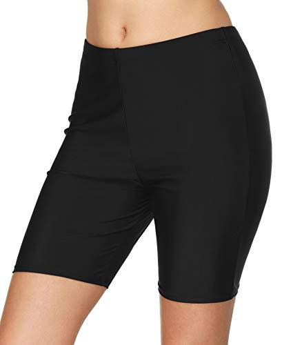 BeautyIn Damen Badeshorts Lang Schwimmshorts Schwimmhose Wassersport Boardshorts UV Schutz XL