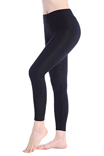 DODOING Damen Strumpfhose 3/4 länge Yoga Leggings Workout Fitness Running Sport Pants (Strumpfhose Spanx Cotton)