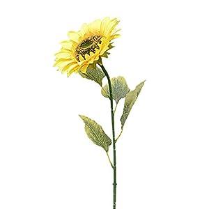 Amesii 1 flor falsa para decoración de jardín de casa con girasol artificial grande