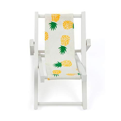 Moligh doll Strand Stuhl Muster Falten Holz Stuhl Handwerk Dekor Party Geschenk M?Bel Puppen Haus Zubeh?r Ananas