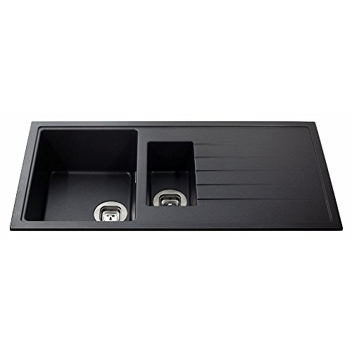 cda-kg44bl-stone-15-bowl-sink-ebony-black-incwaste