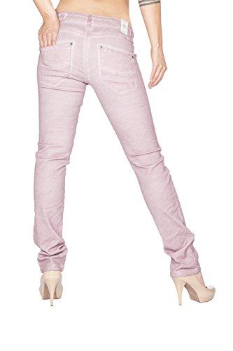 Blue Monkey Damen Slim Fit Jeans Betty BM-19 Old Rose Old Rose