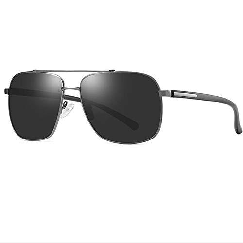 LIUQIAN Sonnenbrille Herren Sonnenbrillen Herren Polarisierte Sonnenbrillen Fahrer Nachtsichtbrille Metall Retro Sonnenbrille
