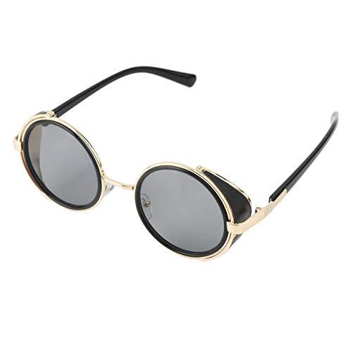 Heaviesk Radfahren Sonnenbrillen Runde Brille Cyber   Fahrrad Brille Vintage Retro Style Blinder ABS Kunststoff und Metalllegierung Rahmen