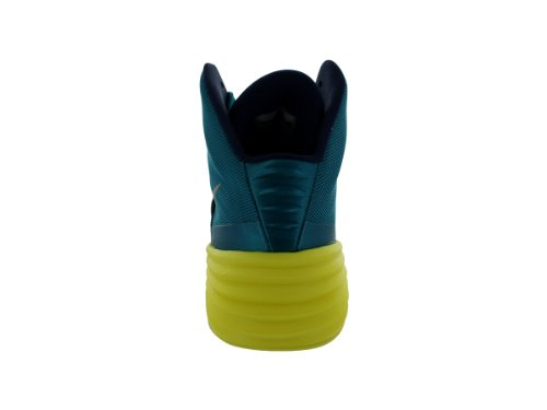 Nike Hyperdunk 2014, Chaussures de Sport-Basketball Homme Tropical Teal-Mid Nvy-Snc Yllw